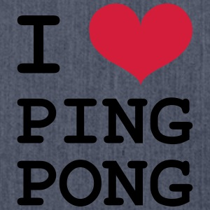 I Love Ping Pong Shirts - Shoulder Bag made from recycled material