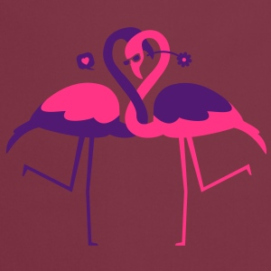 Two Flamingos in love - Cooking Apron