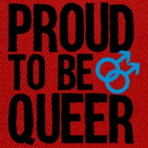 Proud to be queer - gay  Aprons - Snapback Cap
