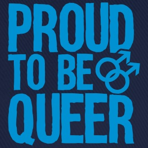 Proud to be queer - gay T-shirts - Basebollkeps