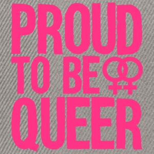 proud to be queer - lesbian T-Shirts - Snapback Cap