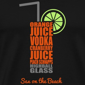 Cocktails - bunt und lecker: Sex on the Beach Väskor & ryggsäckar - Premium-T-shirt herr