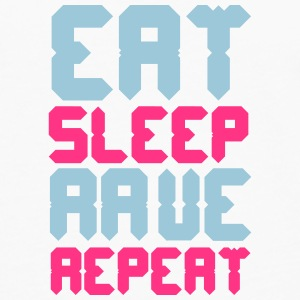 Eat Sleep Rave Repeat Kopper & flasker - Premium langermet T-skjorte for menn