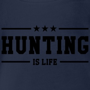 Hunting is life ! Shirts - Baby bio-rompertje met korte mouwen