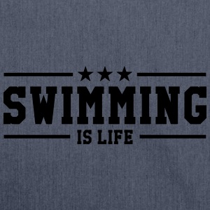 swimming is life ! T-shirts - Skuldertaske af recycling-material