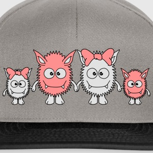 Cute Monster Family T-Shirts - Snapback Cap