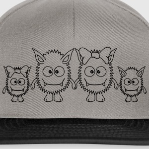 Cute Monster Family Magliette - Snapback Cap