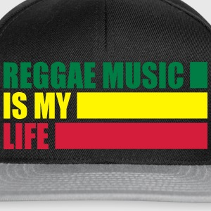 reggae music is my life T-Shirts - Snapback Cap