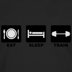 Eat Sleep Train T-Shirts - Men's Premium Longsleeve Shirt