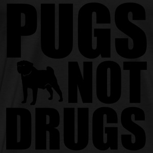 Pugs Not Drugs Sweatshirts - Herre premium T-shirt