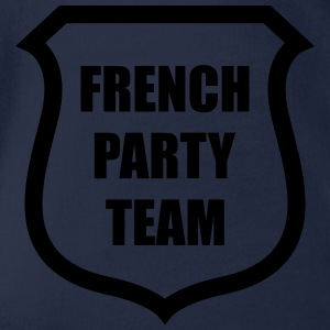 French Party Team Tee shirts - Body bébé bio manches courtes