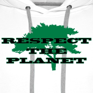 Respect the Planet T-Shirts - Männer Premium Hoodie