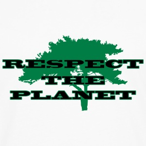 Respect the Planet T-shirts - Herre premium T-shirt med lange ærmer