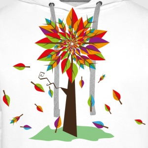a tree in autumn Shirts - Men's Premium Hoodie