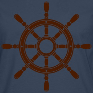 Steering wheel of the ship  T-Shirts - Men's Premium Longsleeve Shirt