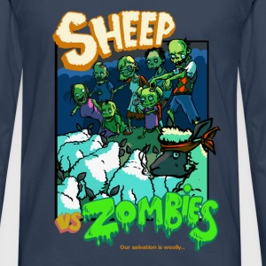 sheep vs zombies Tee shirts - T-shirt manches longues Premium Homme