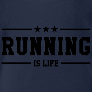 Running is life ! Shirts - Organic Short-sleeved Baby Bodysuit