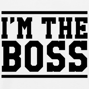 I'm the Boss Gensere - Premium T-skjorte for menn