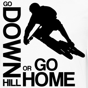Go down(hill) or go home! T-Shirts - Männer Premium Langarmshirt