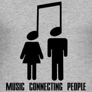 Music Connecting People Tröjor - Slim Fit T-shirt herr