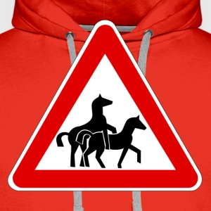 Attention Horse Transport  T-skjorter - Premium hettegenser for menn