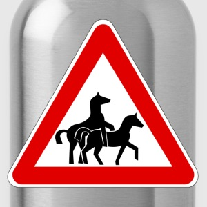 Attention Horse Transport  T-Shirts - Water Bottle