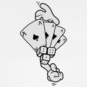 Hands - Gambling T-Shirts - Baseball Cap
