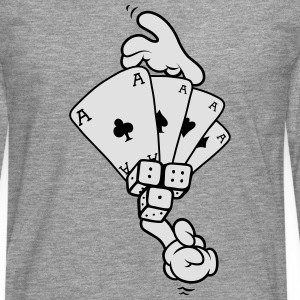 Hands - Gambling T-Shirts - Men's Premium Longsleeve Shirt