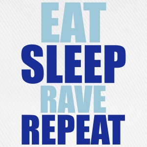 Eat Sleep Rave Repeat T-skjorter - Baseballcap