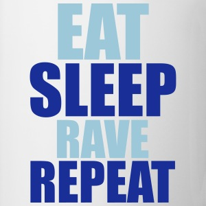 Eat Sleep Rave Repeat Camisetas - Taza