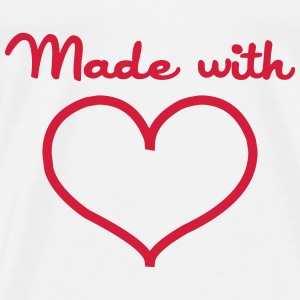 Made with love Gensere - Premium T-skjorte for menn