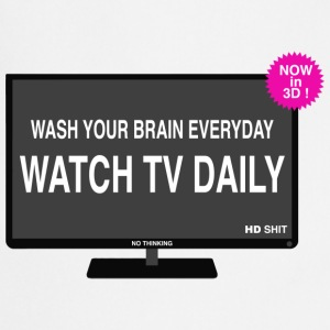 Wash your brain everyday T-shirts - Keukenschort