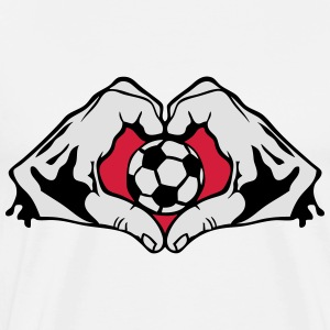 foot coeur love main football hand5 form Tee shirts manches longues - T-shirt Premium Homme