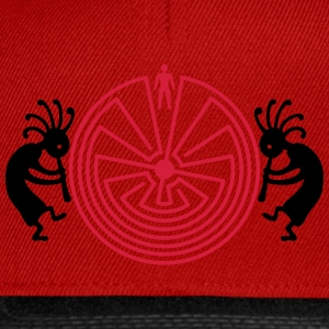 Kokopelli with Man in the Maze - Snapback Cap