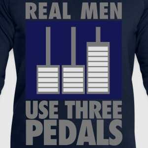 Real men use three pedals T-skjorter - Sweatshirts for menn fra Stanley & Stella