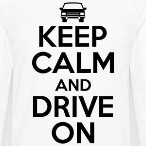 Keep calm and drive on T-shirts - Mannen Premium shirt met lange mouwen