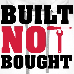 Built not bought T-skjorter - Premium hettegenser for menn