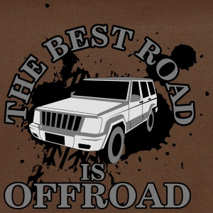 The best road is offroad T-Shirts - Shoulder Bag