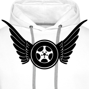 Wheel with wings T-shirts - Mannen Premium hoodie
