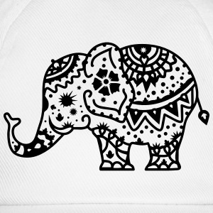 a decorated Indian elephant T-Shirts - Baseball Cap