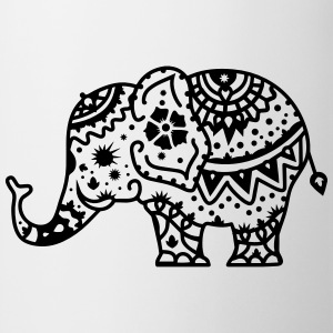 a decorated Indian elephant T-Shirts - Mug