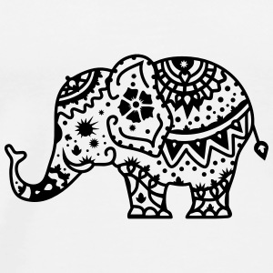 a decorated Indian elephant Buttons - Men's Premium T-Shirt