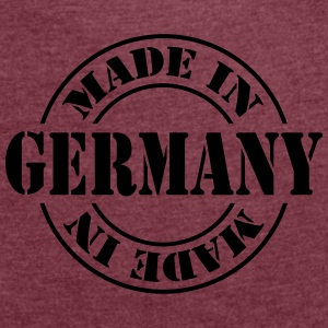 made_in_germany_m1 Accessoires - Frauen T-Shirt mit gerollten Ärmeln