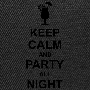 keep_calm_and_party_all_night_2_g1 Camisetas - Gorra Snapback