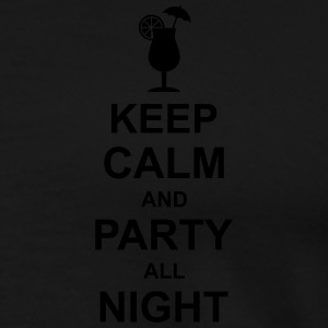 keep_calm_and_party_all_night_2_g1 Camisetas polo  - Camiseta premium hombre