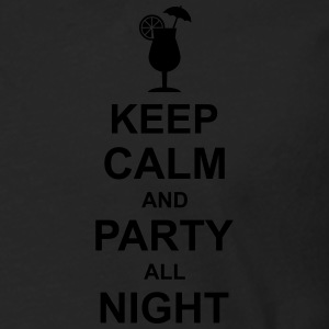 keep_calm_and_party_all_night_2_g1 Poloshirts - Mannen Premium shirt met lange mouwen