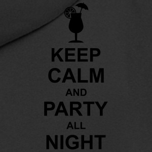 keep_calm_and_party_all_night_2_g1 Polo Shirts - Men's Premium Hooded Jacket