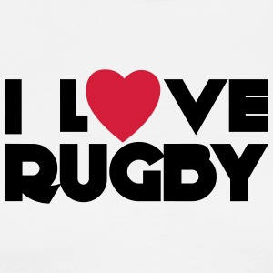 I Love Rugby  Aprons - Men's Premium T-Shirt
