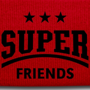 Super Friends, Damen Fun T-Shirt - Wintermütze