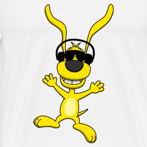 Cool Dancing Dog Teddy - Männer Premium T-Shirt